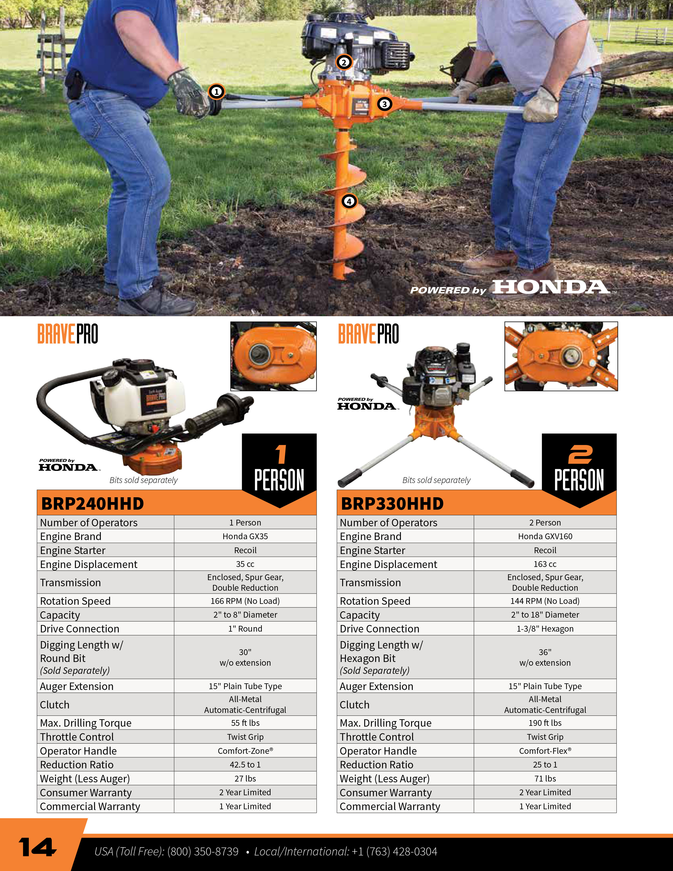 Button to View the Brave Earth Augers Brochure