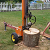 Log Splitter in Use