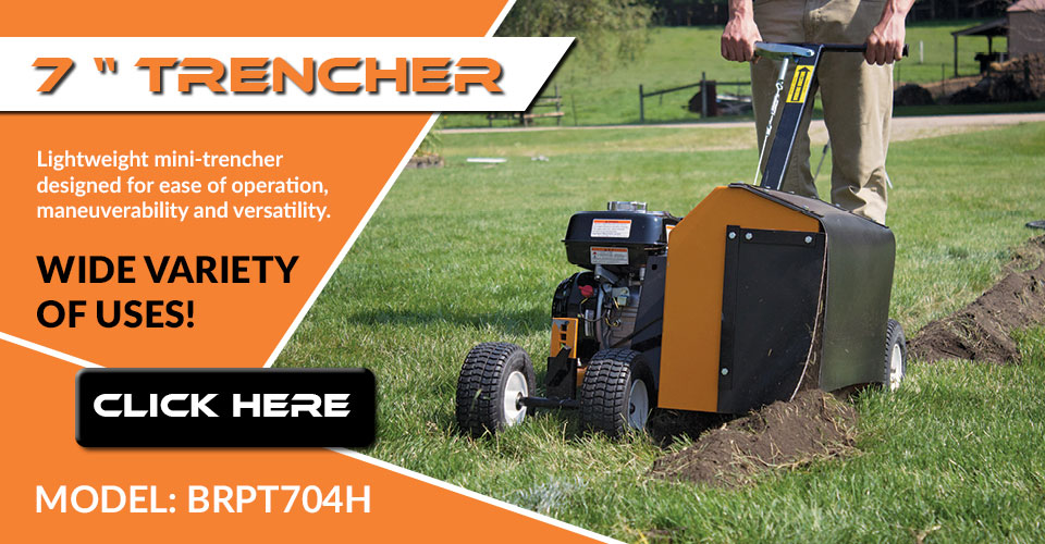 Check out the BRPT704H Trencher
