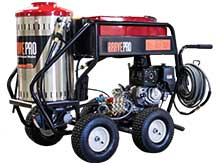 Front Left View of the 390cc Electric Hot Water Pressure Washer