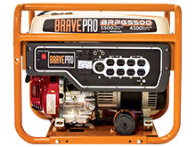 Front View of the BRPG5500 Generator