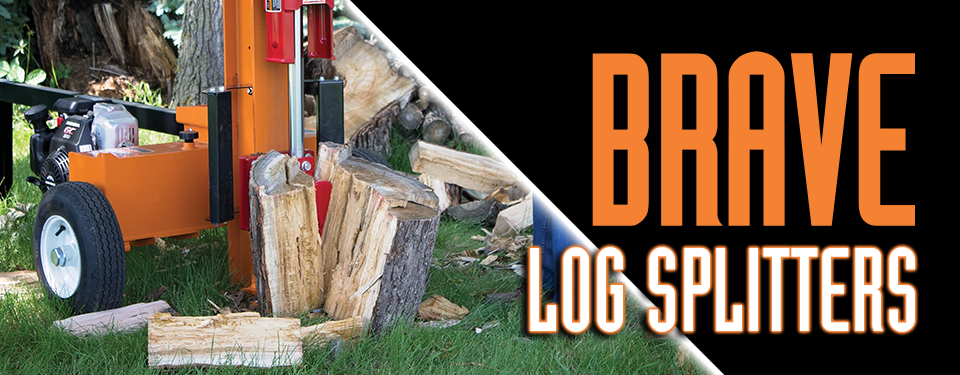 Log Splitter in Use as a Banner for the Log Splitter's Page