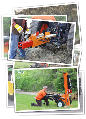 Log Splitters in Use